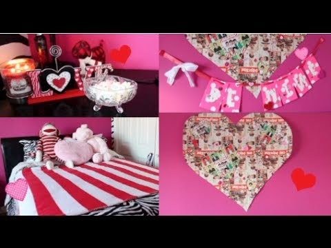 ♡ DIY Decorations for Valentines Day & Ways to Spice up your room + A Gift Idea! ♡
