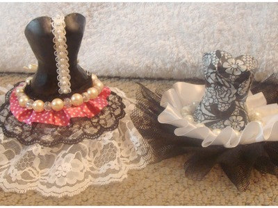 DIY Decorative Doll CORSETS bracelet holders tutorial