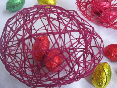 DIY Easter Decorations - String Eggs