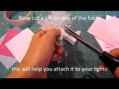 DIY: Flower fairy lights tutorial
