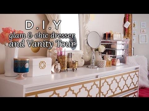 DIY Glam & Chic Dresser + Vanity Tour | Charmaine Dulak