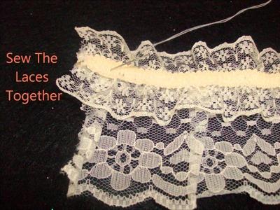 DIY: Lolita Wrist Cuffs and Lace Collar