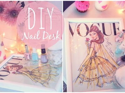 ♥ DIY Nail Desk- Easy & Inexpensive | TheClassyItGirl ♥
