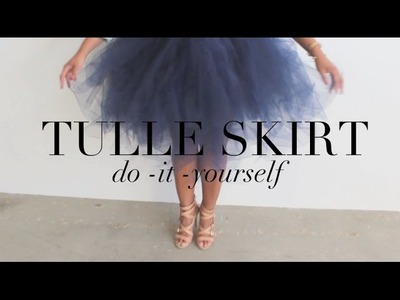 {DIY} Tulle Skirt.  Your Inner Carrie Bradshaw Will Thank You!