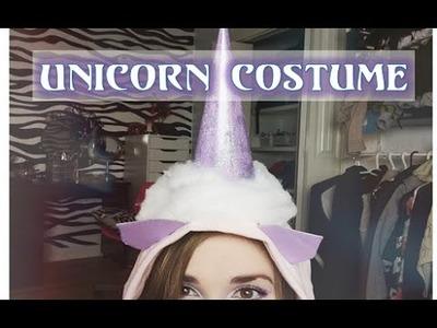 Diy~ Unicorn Halloween Costume & Makeup Look!!