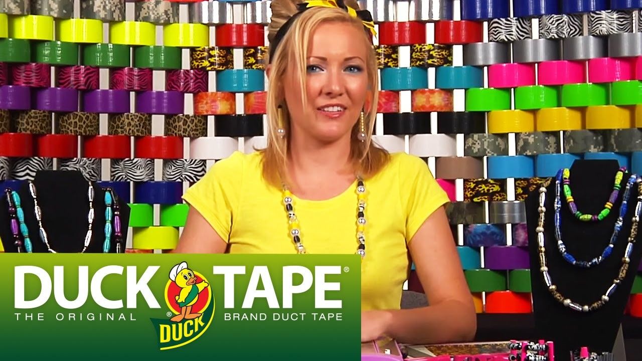 Duck Tape Craft Ideas: How to Make a Necklace
