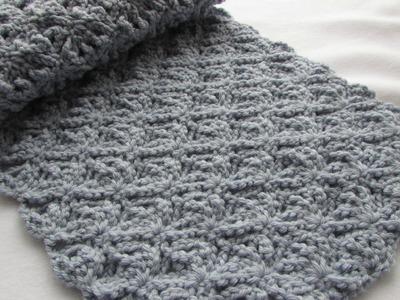 EASY crochet pretty lace scarf tutorial - part 2