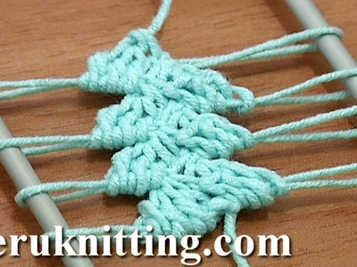 Hairpin Lace How to Make Crochet Tutorial 14 Working 3-Double Crochet Decrease Stitches