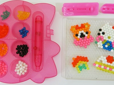 Hello Kitty AquaBeads Barrette Playset Part 1 | DIY Make Your Own Hello Kitty Bead Accessories!