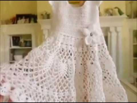 How to Crochet a Girl's Toddler Baby Doily Dress