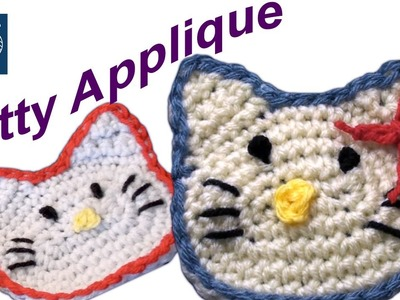 How to Crochet Hello Kitty Applique Left Hand Crochet Geek