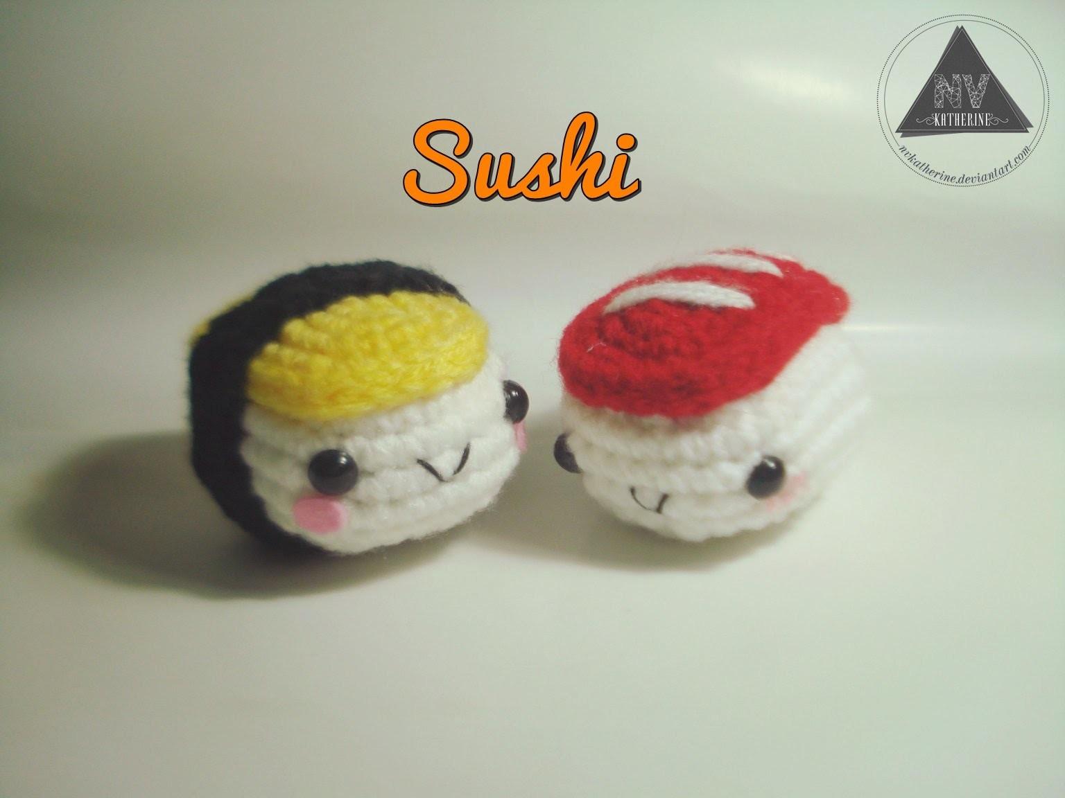 How To Crochet Sushi Amigurumi [FULL TUTORIAL]
