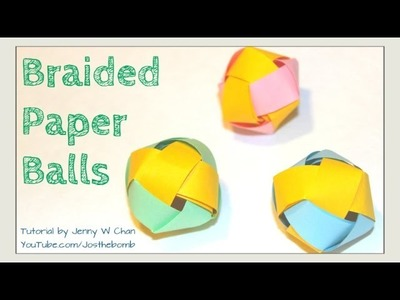 How to Make a Paper Ball - Paper Beads - Braided Paper Ball Decoration: Garland, Ornament, Room