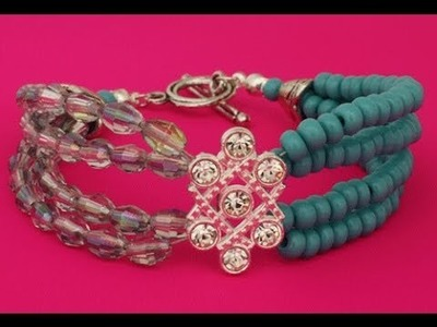 How to Make Multi Strand Bracelet with a Slider
