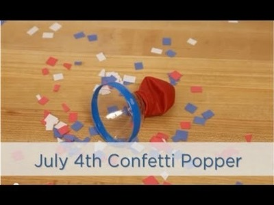 How to Make Party Poppers for 4th of July Crafts
