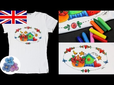 How to Paint on Fabric DIY Tutorial *Crayola Washable Fabric Paint* Crayon Paint on fabric Mathie