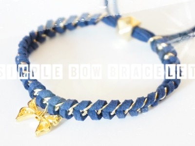 {How to} Simple Bow Bracelet