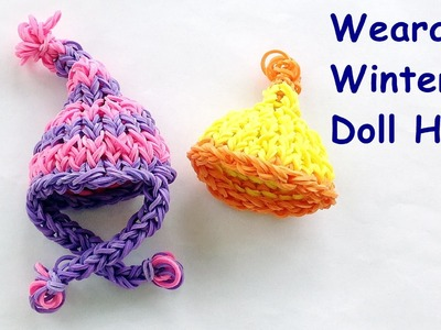 Loom Bands Winter Hat Charm Tutorial - How to make on the Rainbow Loom