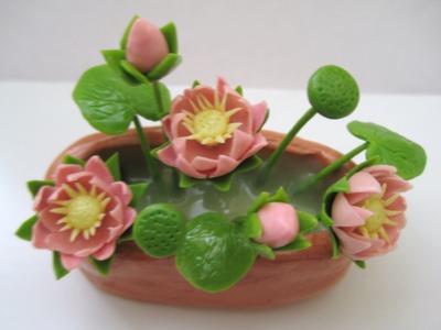 Lotus - Flower Miniature Polymer Clay