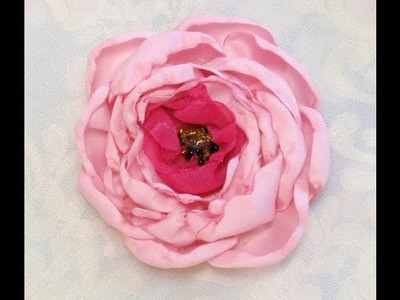 Make Super Easy Simple Fabric Flower, Rose, Tutorial, DIY, How to