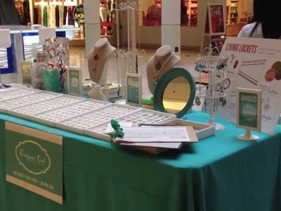 Origami Owl Simple Vendor Show Set Up-Video 9