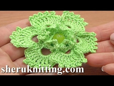 Picot Popcorn Stitch Flower Crochet Tutorial 70 Flower Patterns
