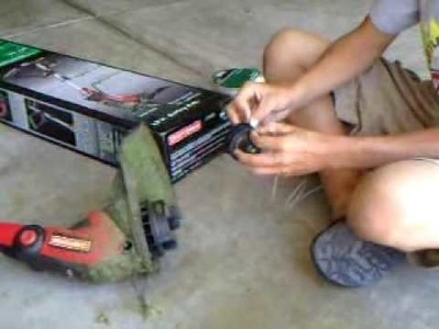 Re-Stringing a Craftsman electric trimmer DIY video.
