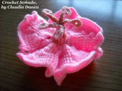 ROSA CHINA (AL CROCHET) - (CROCHETED) CHINA ROSE FLOWER
