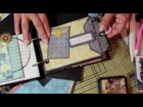 "Scrapbooking How-To Make a Simple ""Paper Bag Envelope Pocket"" Mini featuring Graphic 45.m4v"