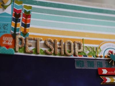 Scrapbooking Large Photos: Pet Shop Boys