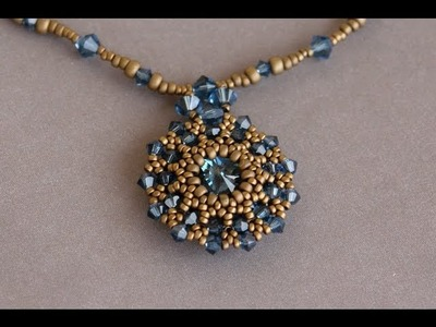 Sidonia's handmade jewelry - Making of the Swarovski rivoli pendant