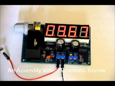 The LM317 Variable DC-DC power supply DIY kit + Voltage Display
