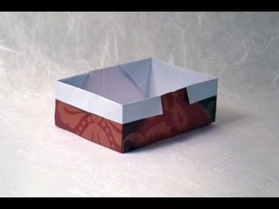 Traditional Origami Box Instructions: www.Origami-Fun.com
