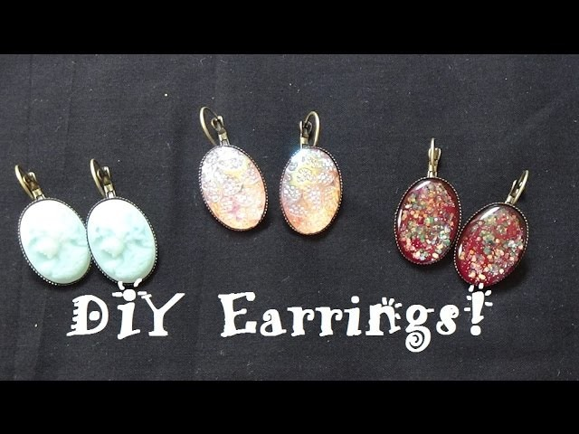 18x25mm DIY Earring Tutorial ft. PandaHall.com Earrings, Cameos & Cabochons!