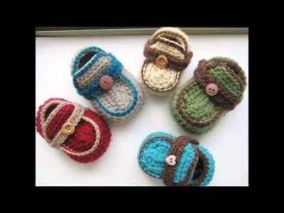 Boy's Moccasins Crochet Baby Booties Pattern
