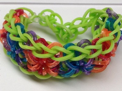 Craft:  How to make a Rainbow Loom Starburst Bracelet - Step by Step