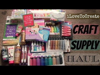 CRAFT SUPPLY HAUL - Tie Dye, Fabric Paint, Glue & More! from iLoveToCreate