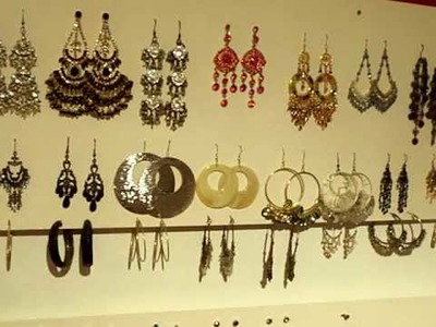 DIY do it yourself how to make a cheap easy earring holder organiser