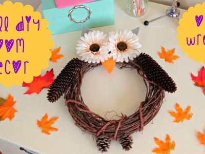 DIY Fall Room Decor - Owl Wreath
