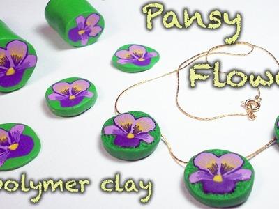 DIY flower cane {Polymer Clay Tutorial} Pansy - Viola del pensiero - Violeta