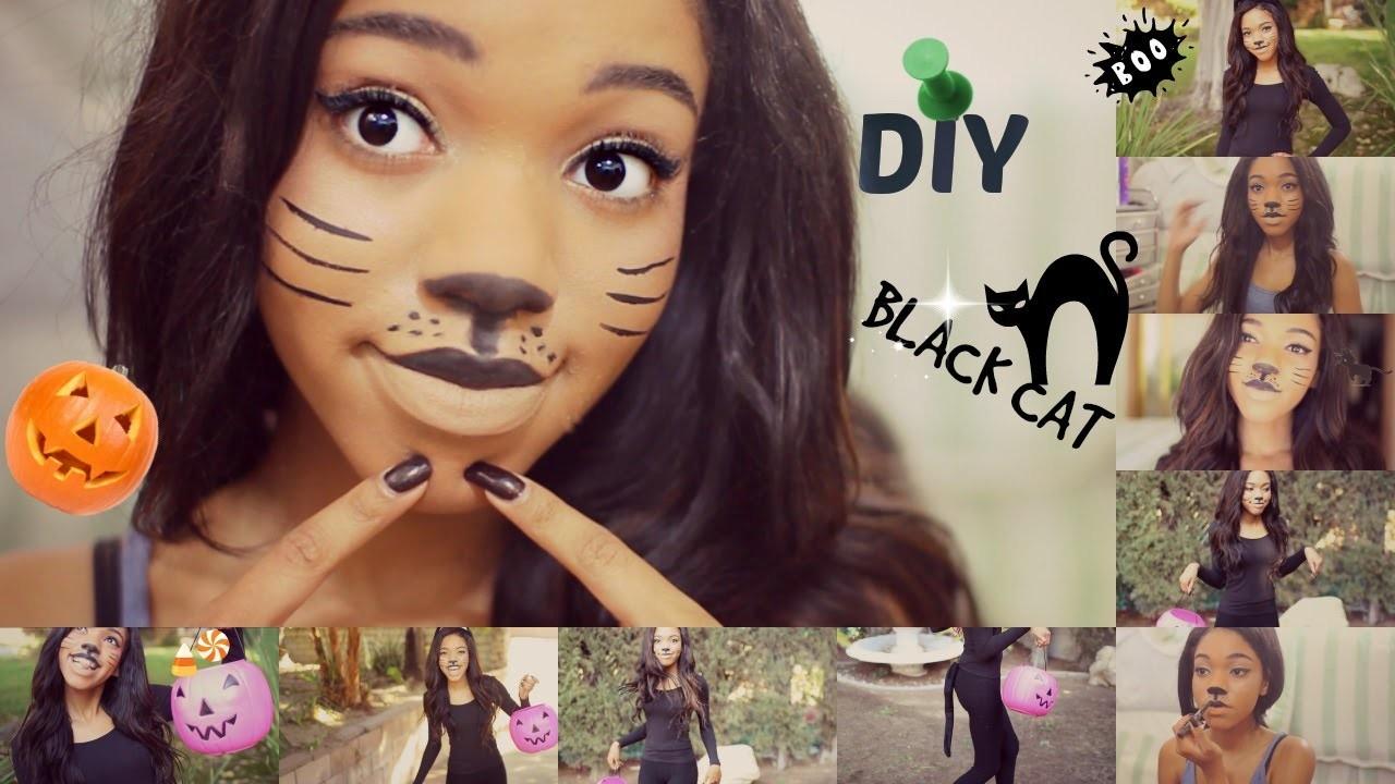DIY Halloween CAT Costume!!!!!!!!