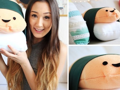 DIY: No Sew Sushi Pillow.Plush | LaurDIY