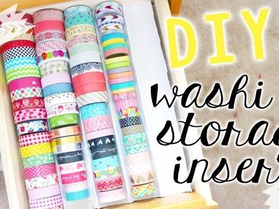 ✿ DIY: Washi Tape Storage Tray (Stationery.Craft Storage & Organization)