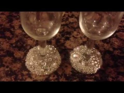 DIY Wine Glass Decoration