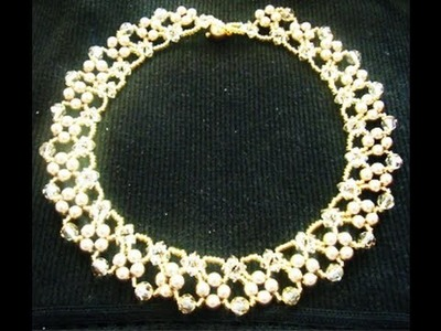 Elegant Beaded Swarovski Necklace