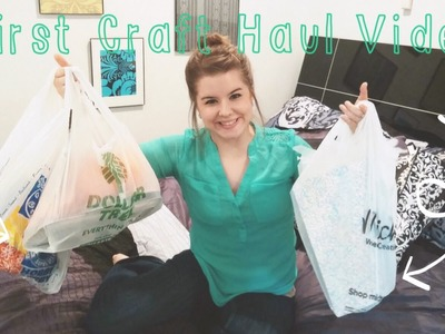 FIRST Craft Haul Video! Hobby Lobby, Dollar Tree, & Michaels.Rainbow Loom & MORE!