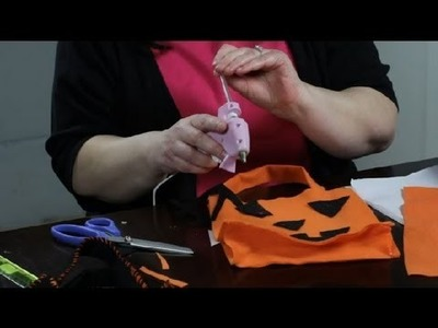 Handmade Halloween Felt Bag : Felt Craft Projects