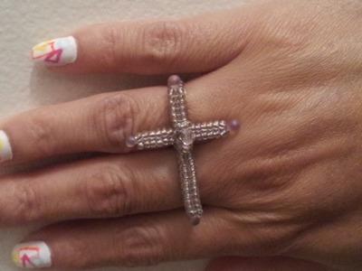 Handmade Jewelry: Herringbone Cross Ring