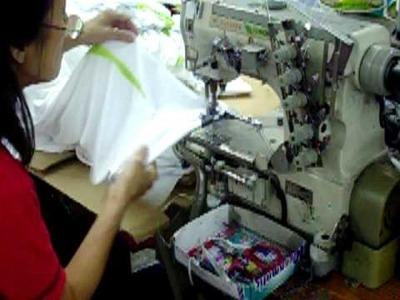 How are shirts hem sewn with Double Stitch - Maxtex.com.my - Apparel Manufactoring - Factory Video