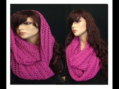 How to Crochet a Round Infinity Scarf Pattern #8 │by ThePatterfamily